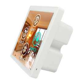Alexa Compatible WIFI Smart Wall Light Switch 86 * 86 * 38mm WIFI And RJ45 Support