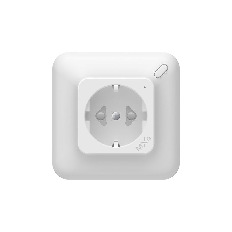 220v Electrical Single Smart Wall Socket ABS Plastic Material Flame - Resistant PC Shell